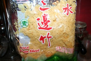 crushed bean curd